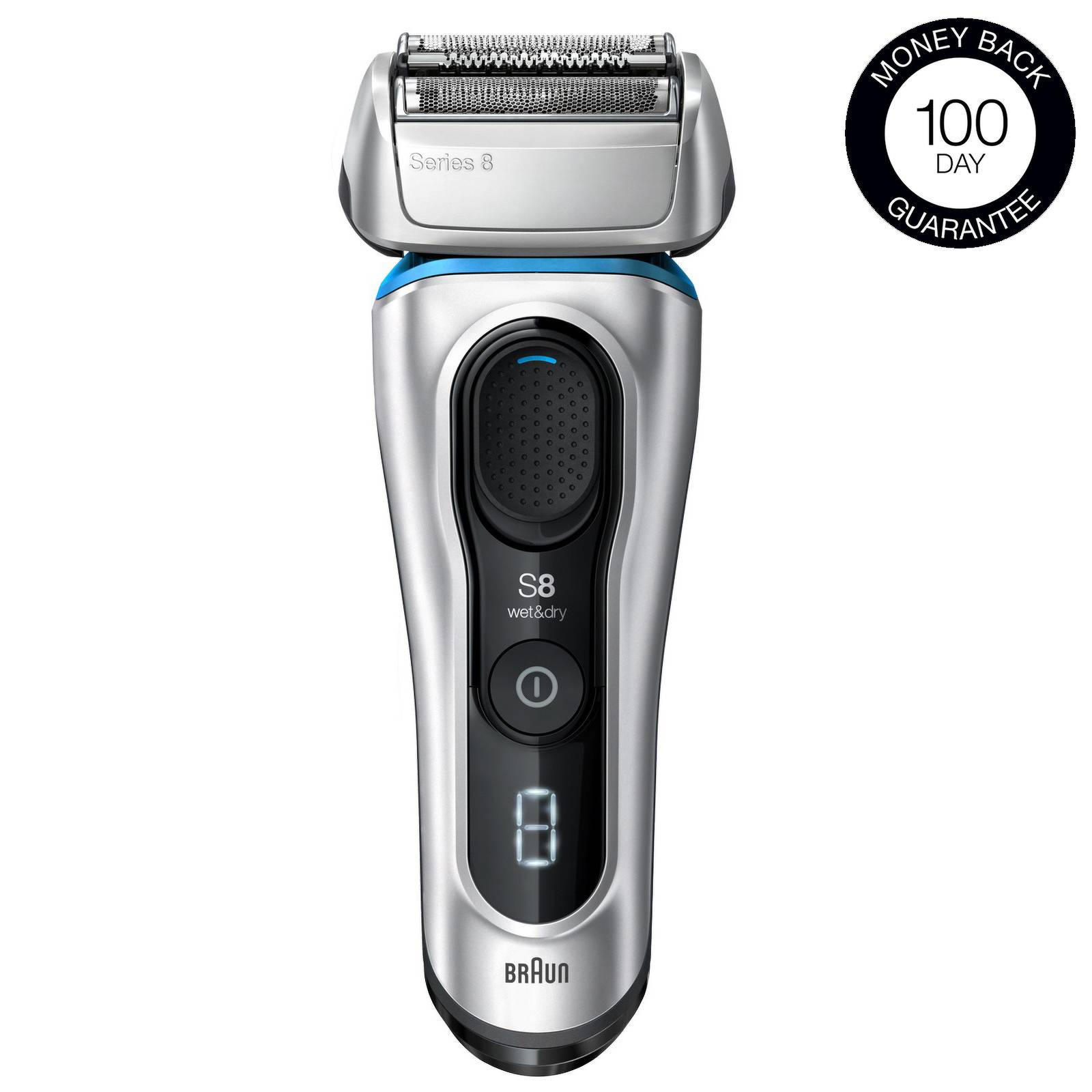 Braun - Series Shavers Series 8 8390cc Wet & Dry Electric Shaver with SmartCare Center and Travel Case for Men