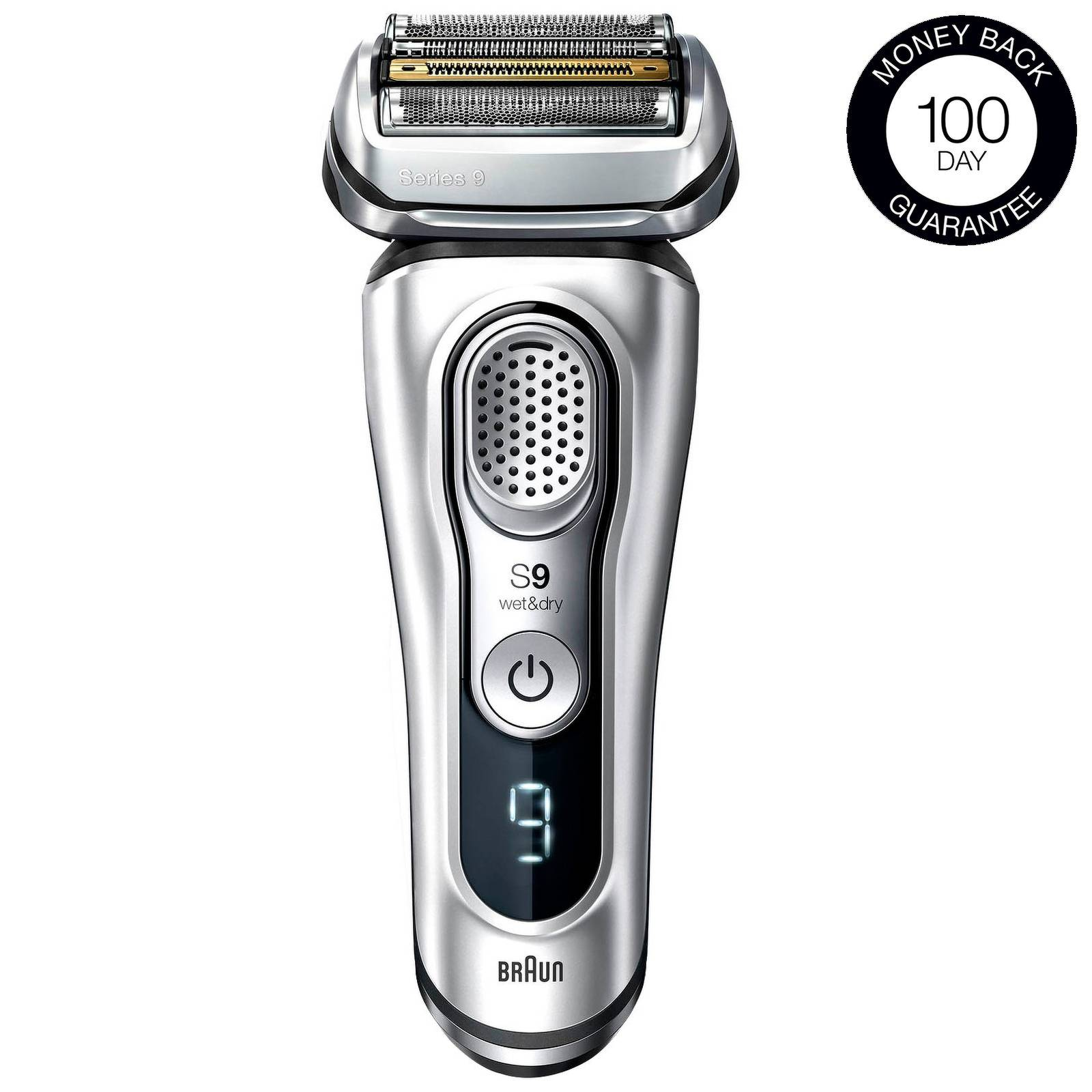 Braun - Series Shavers Series 9 9390cc Wet & Dry Electric Shaver with SmartCare Center and Leather Travel Case for Men