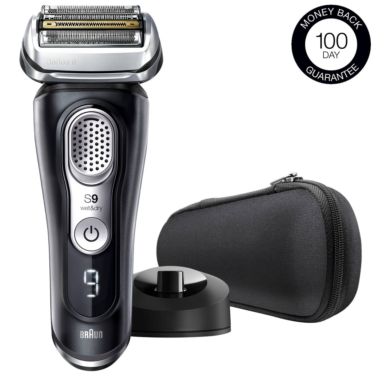 Braun - Series Shavers Series 9 9340s Waterproof Electric Shaver with Charging Stand for Men