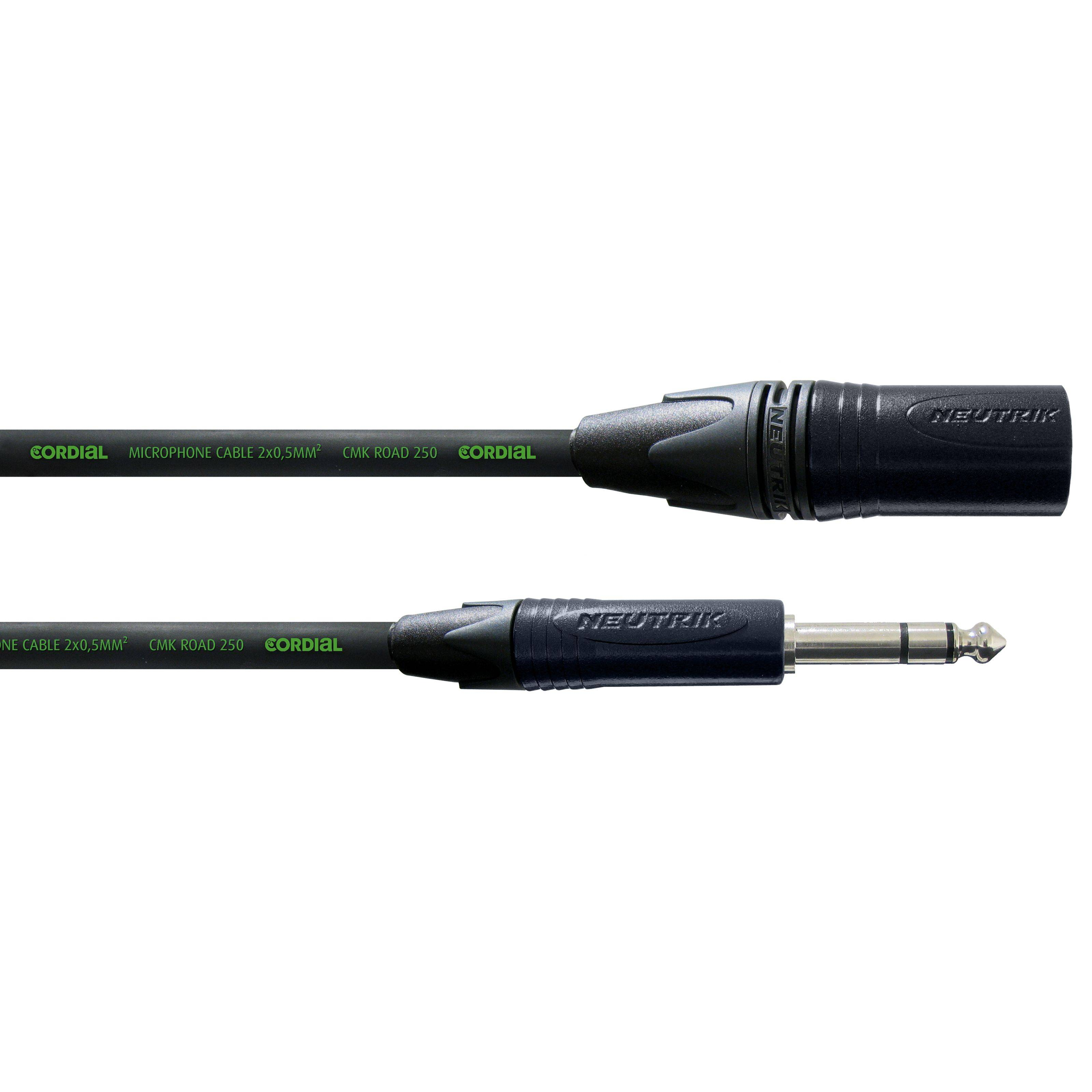 Cordial CRM 2.5 MV encore Mircophone Cable XLR male - Jack stereo 2,5m Neutrik