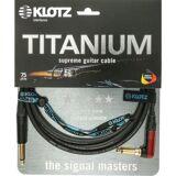 Klotz Instrument Cable, 3m, 1xangled Titanium, Silent, TIR0300PSP