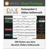 Wersi OAX Notenpaket 2 Oldies Volksmusik