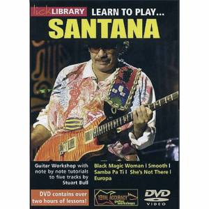 Lick library - Santana Learn to play (Guitar), DVD