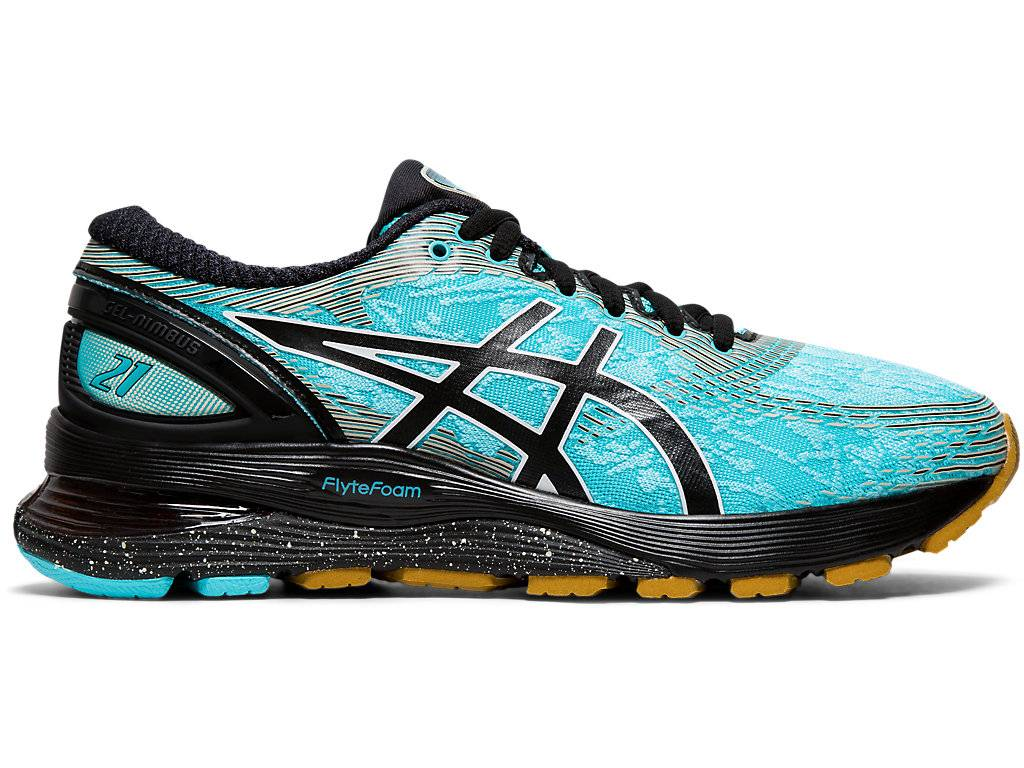 ASICS GEL-NIMBUS™ 21 WINTERIZED - ICE MINT/BLACK - Size: 4