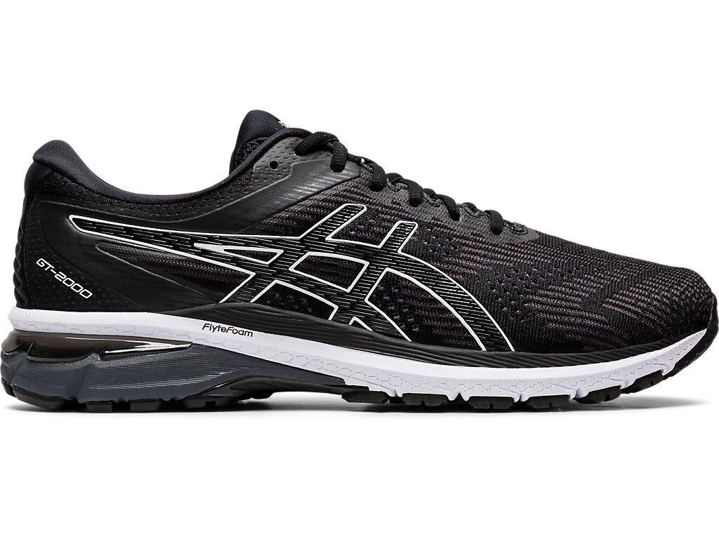 ASICS GT-2000 8 - BLACK/WHITE - Size: 7