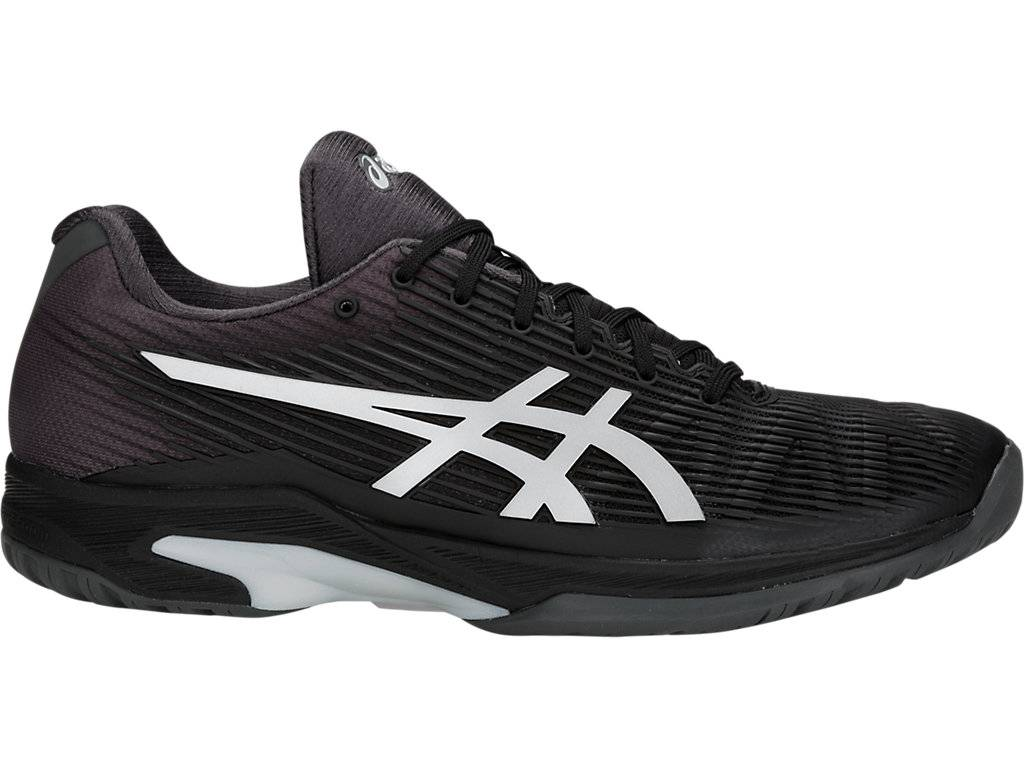 ASICS SOLUTION SPEED FF - BLACK/SILVER - Size: 9H