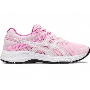 ASICS GEL-CONTEND 6 GS - COTTON CANDY/WHITE - Size: 2.5