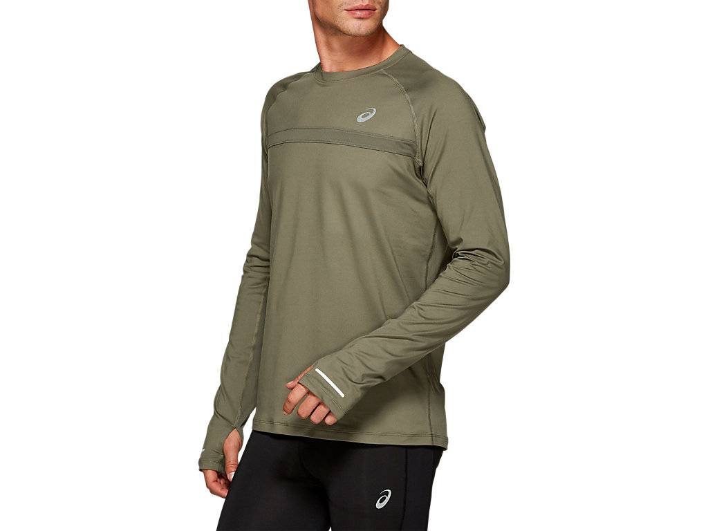 ASICS THERMOPOLIS PLUS LS - MANTLE GREEN - Size: Small