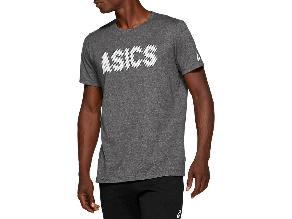 ASICS M GPX SS T 2 - PERFORMANCE BLACK HEATHER - Size: Large