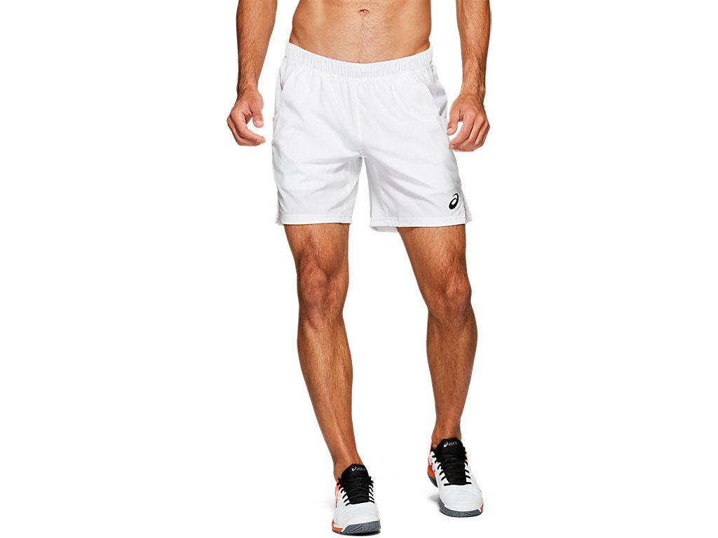 ASICS TENNIS 7IN SHORT - BRILLIANT WHITE - Size: Large