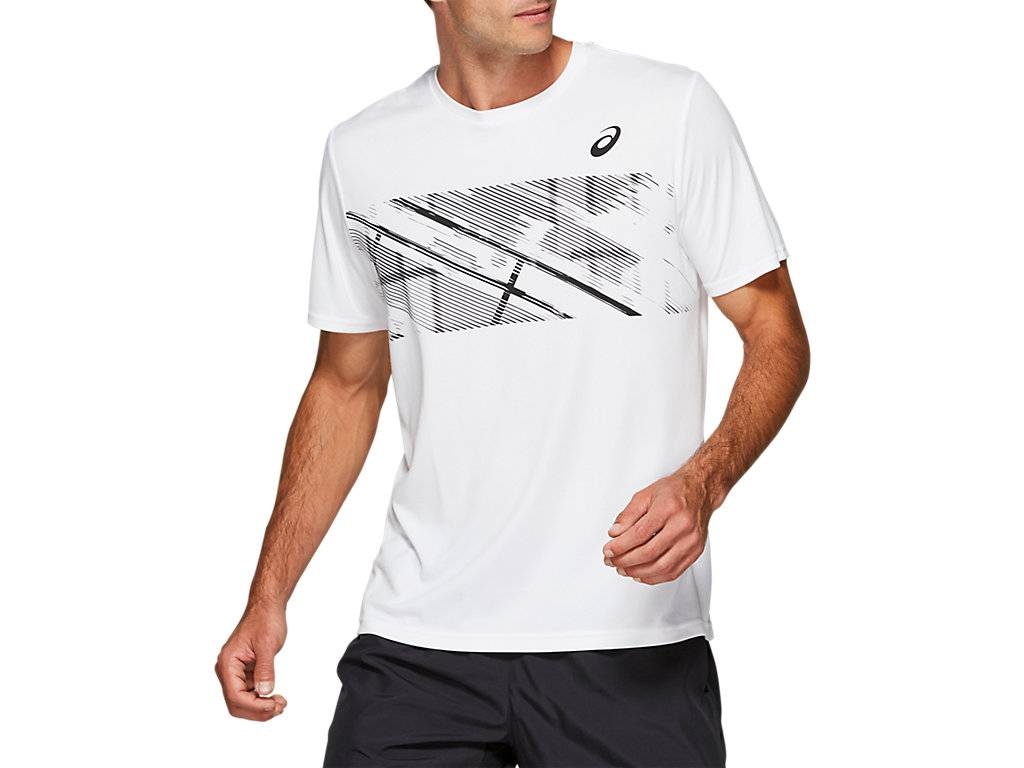 ASICS PRACTICE M GPX SS - BRILLIANT WHITE - Size: Small
