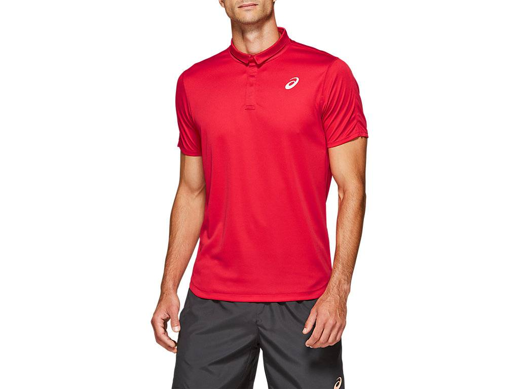 ASICS CLUB POLO-SHIRT - SPEED RED - Size: 2X-Large