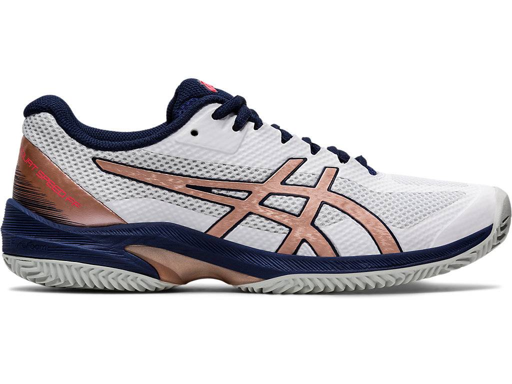 ASICS COURT SPEED FF CLAY - WHITE/ROSE GOLD - Size: 5