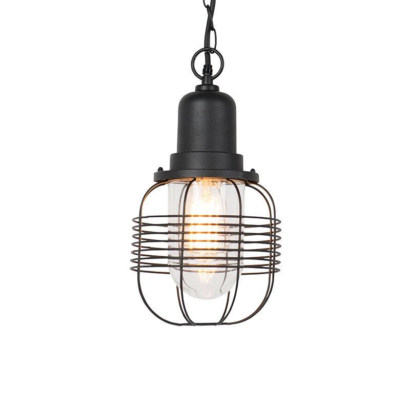 QAZQA Rural outdoor hanging lamp black IP44 - Guardado