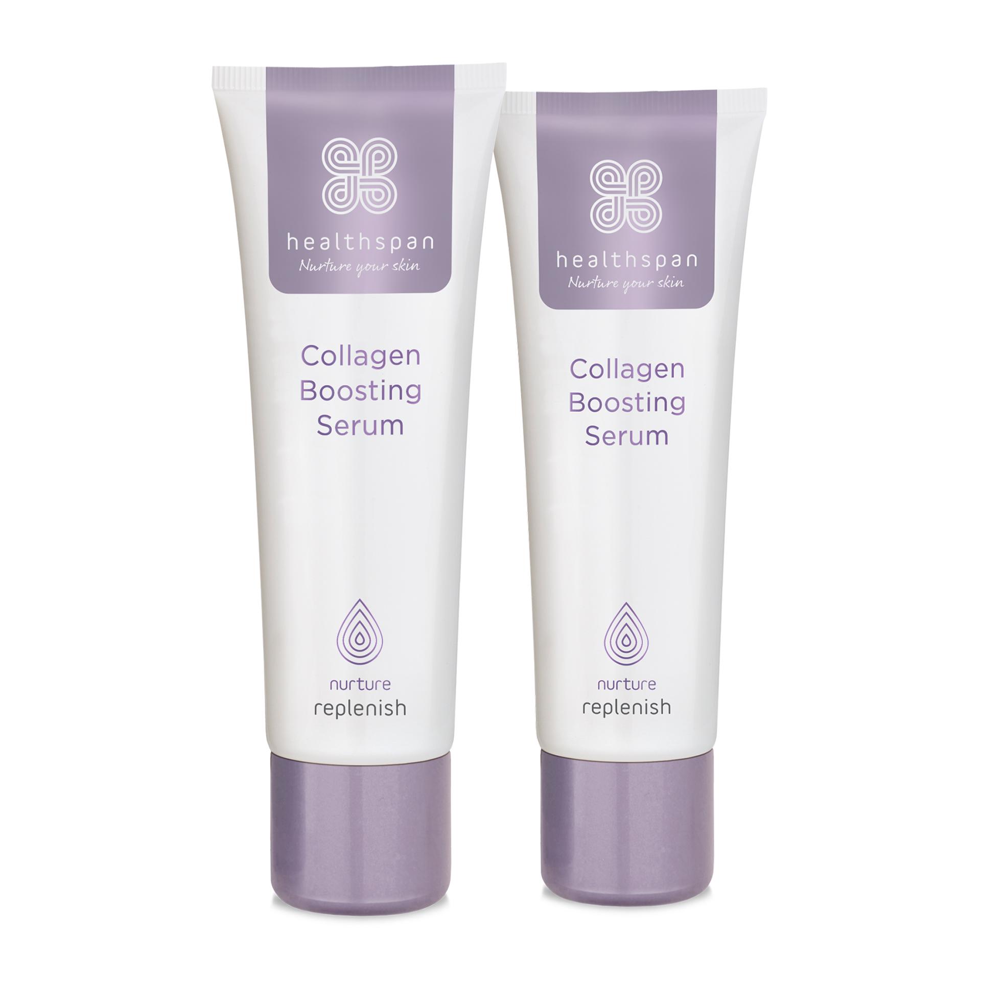 Healthspan Replenish Collagen Boosting Serum Duo Pack - 2 x 30ml Tube