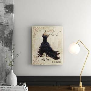 East Urban Home 'Little Black Dress' by Tre Sorelle Studios Graphic Art Print on Wrapped Canvas  - Size: 72.3 H x 61.5 W x 7.5 D cm