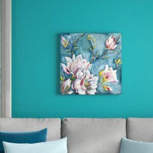 East Urban Home Magnolia by Tre Sorelle Studios - Wrapped Canvas Graphic Art Print East Urban Home Size: 60.96cm H x 60.96cm W  - Size: 121.92cm H x 121.92cm W