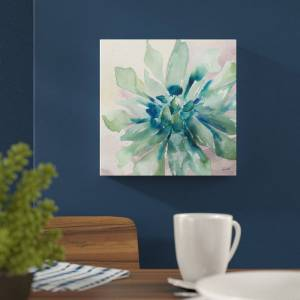East Urban Home Succulent III by Tre Sorelle Studios - Wrapped Canvas Graphic Art Print  - Size: 250.0 H x 80.0 W x 0.3 D cm