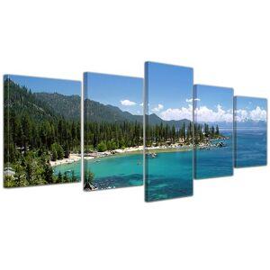 Mercury Lake Tahoe - Nevada USA 5-Piece Photographic Print on Canvas Set Mercury Row  - Size: Mini (Under 40cm High)