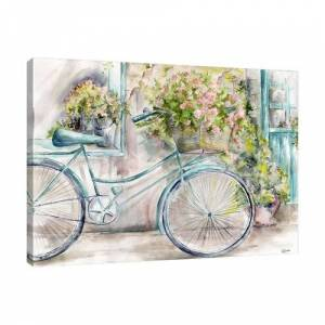 East Urban Home 'Paris Florist Shop' by Tre Sorelle Studios Watercolour Painting Print on Wrapped Canvas East Urban Home Size: 91.44cm H x 121.92cm W  - Size: 71.12cm H x 106.68cm W