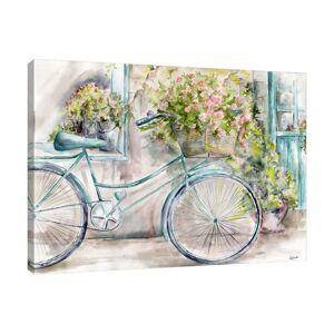 East Urban Home 'Paris Florist Shop' by Tre Sorelle Studios Watercolour Painting Print on Wrapped Canvas East Urban Home Size: 91.44cm H x 121.92cm W  - Size: 50.8cm H x 76.2cm W