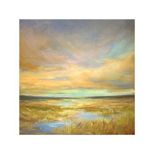 East Urban Home 'Morning Sanctuary' Painting on Wrapped Canvas East Urban Home Size: 93.98cm H x 93.98cm W x 3.81cm D  - Size: 93.98cm H x 93.98cm W x 3.81cm D