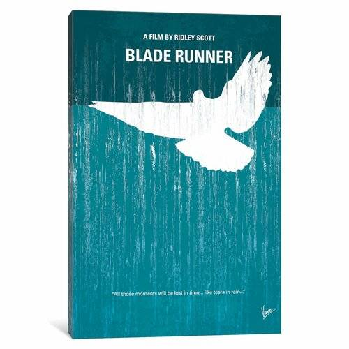 East Urban Home Blade Runner Minimal Movie' Advertisement on Wrapped Canvas East Urban Home Size: 66.04cm H x 45.72cm W x 1.91cm D  - Size: 66.04cm H x 45.72cm W x 1.91cm D