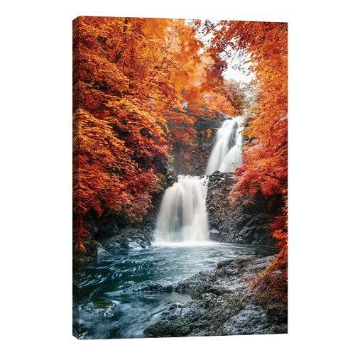 East Urban Home 'Isle of Skye Waterfall Ulg II' Photographic Print on Wrapped Canvas East Urban Home  - Size: Small