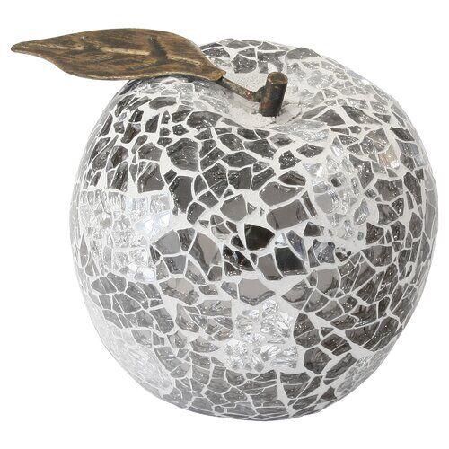 Home Essence Mosaic Apple Ornament (Set of 6) Home Essence Colour: Mirrored  - Size: 76cm H X 44cm W X 44cm D
