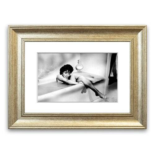 East Urban Home 'Joan Collins in The Tube' Framed Photographic Print East Urban Home Size: 93 cm H x 126 cm W, Frame Options: Silver  - Size: 93 cm H x 126 cm W