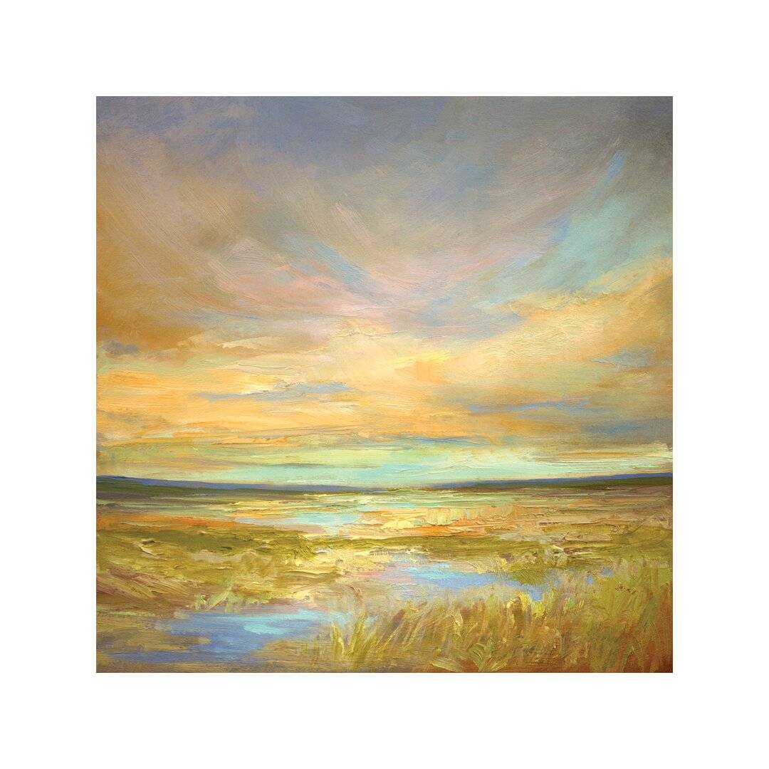 East Urban Home 'Morning Sanctuary' Painting on Wrapped Canvas  - Size: 32.0 H x 102.0 W x 46.0 D cm