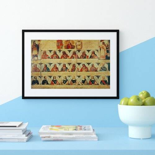 Astoria Grand Genealogy of the Inca Rulers and Their Spanish Successors from Manco Capac the First Inca King to Ferdinand Vi of Spain by Spanish School - Painting P  - Size: 70 cm H x 100 cm W x 2.3 cm D