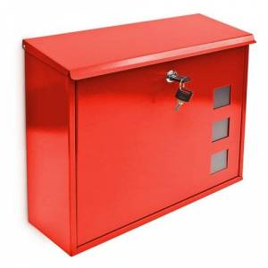 Sol 72 Outdoor Kaat Metal Locking Letter Box Sol 72 Outdoor Colour: Red  - Red - Size: 33cm H X 35cm W X 11cm D