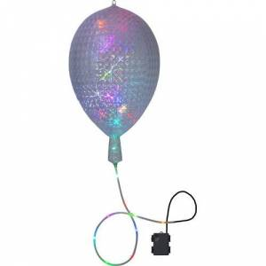 The Seasonal Aisle 30-Light Red/Green/Silver Balloon Lamp The Seasonal Aisle  - Size: 55cm H X 32cm B X 32cm T