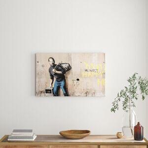 East Urban Home 'Steve Jobs imac' Painting Print on Canvas East Urban Home Size: 101.6 cm H x 142.2 cm W  - Size: 101.6 cm H x 142.2 cm W