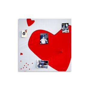 Ebern Designs Big Heart Magnetic Wall Mounted Photo Memo Board  - Size: 93.0 H x 126.0 W x 1.0 D cm