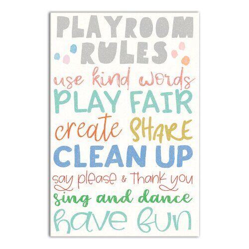 Blue Elephant Braun Playroom Rules Canvas Art Blue Elephant Rectangle 200 x 300cm