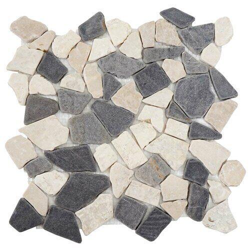 Mendler Vigo 30 x 30cm Marble Mosaic Tile Mendler  - Size: 1cm H X 30cm B X 30cm T
