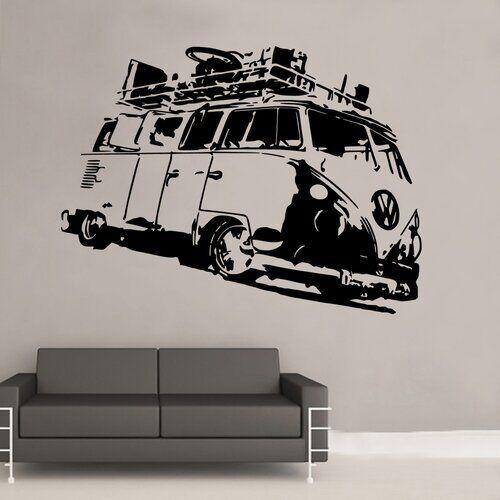 East Urban Home Split Camper Volkswagen Campervan Wall Sticker East Urban Home Size: 120 cm X 160 cm  - Size: Extra Large