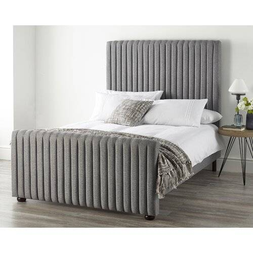 Catherine Lansfield Soho Bed Frame Catherine Lansfield Size: Small Double (4'), Colour: Grey  - Grey - Size: Small