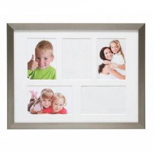 Brayden Studio Delossantos Picture Frame Brayden Studio  - Silver/White - Size: 34cm H X 44cm W X 1cm D