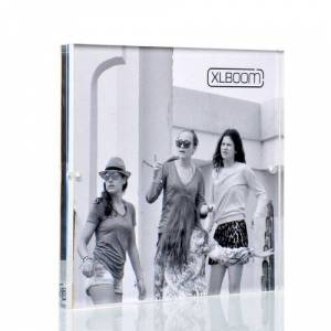 "XLBoom Acrylic Magnetic Picture Frame XLBoom Size: 5"" x 5""  - Clear - Size: 5"" x 5"""