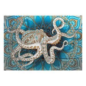 World Menagerie Zen Octopus Semi-Gloss Wall Mural  - Size: 70.0 H x 100.0 W x 2.3 D cm