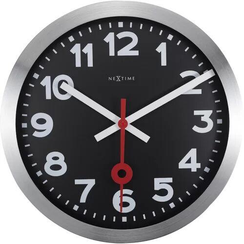 NeXtime Station Aluminium Wall Clock NeXtime Size: 35cm H x 35cm W x 4.5cm D  - Size: 35cm H x 35cm W x 4.5cm D