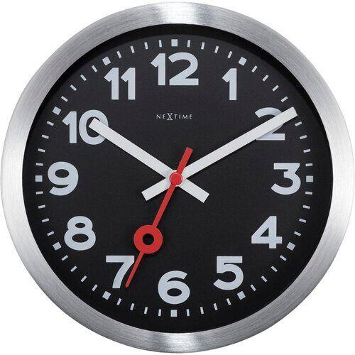 NeXtime Station Aluminium Wall Clock NeXtime  - Size: 35cm H X 35cm W X 4cm D