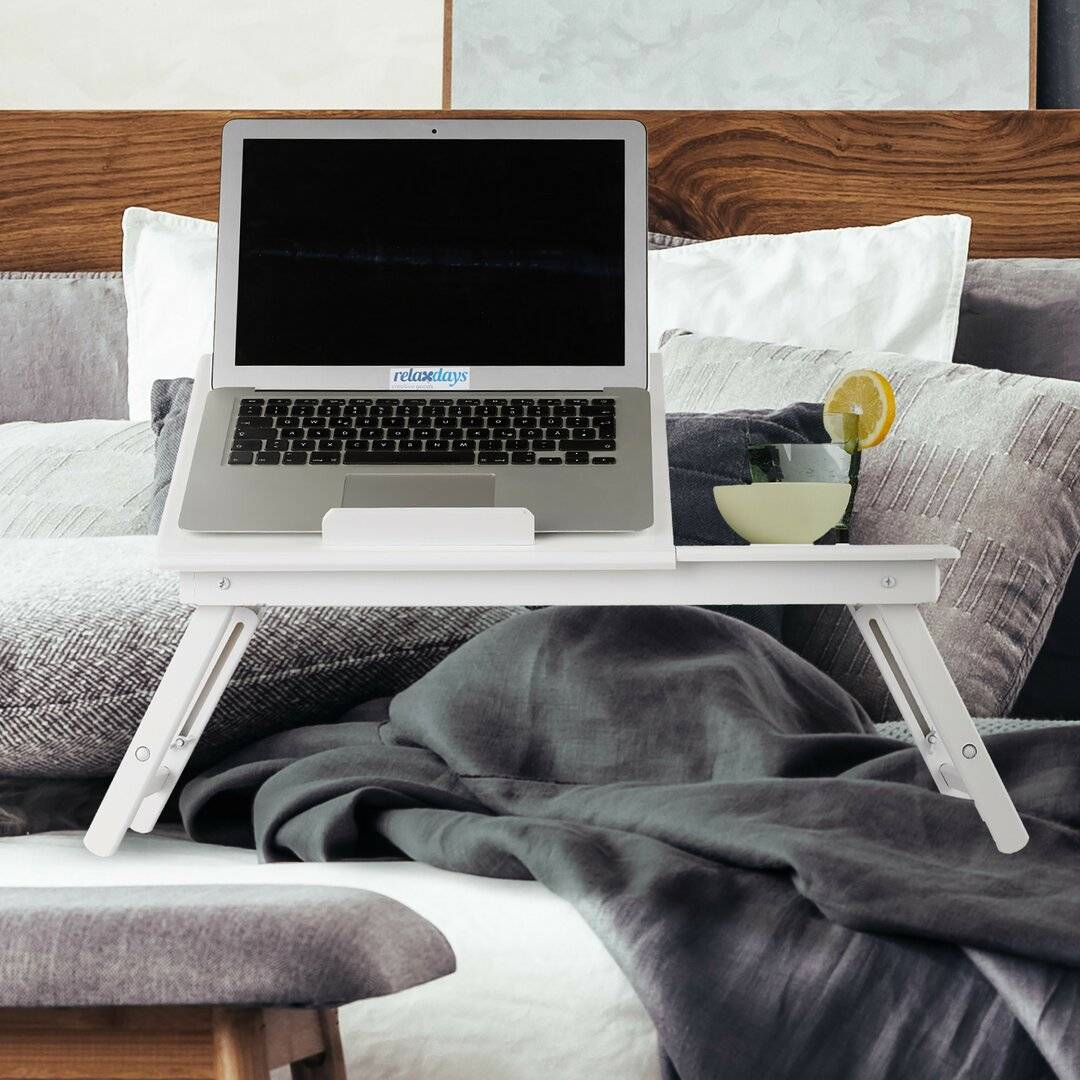 House of Hampton Shania Laptop Table  - Size: 64.0 H x 28.0 W x 5.0 D cm