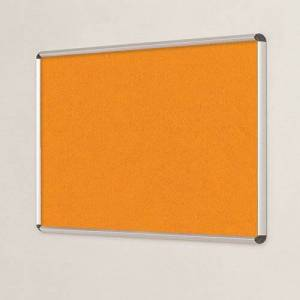Symple Stuff Wall Mounted Bulletin Board Symple Stuff Size: 60cm H x 90cm W, Frame Finish: Aluminium, Colour: Orange  - Orange - Size: 60cm H x 90cm W