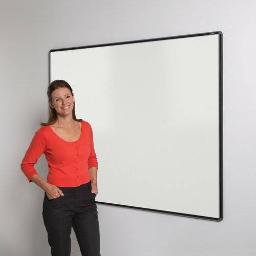 Symple Stuff Wall Mounted Whiteboard Symple Stuff Size: 120cm H x 180cm W, Colour: Black  - Size: 120cm H x 150cm W