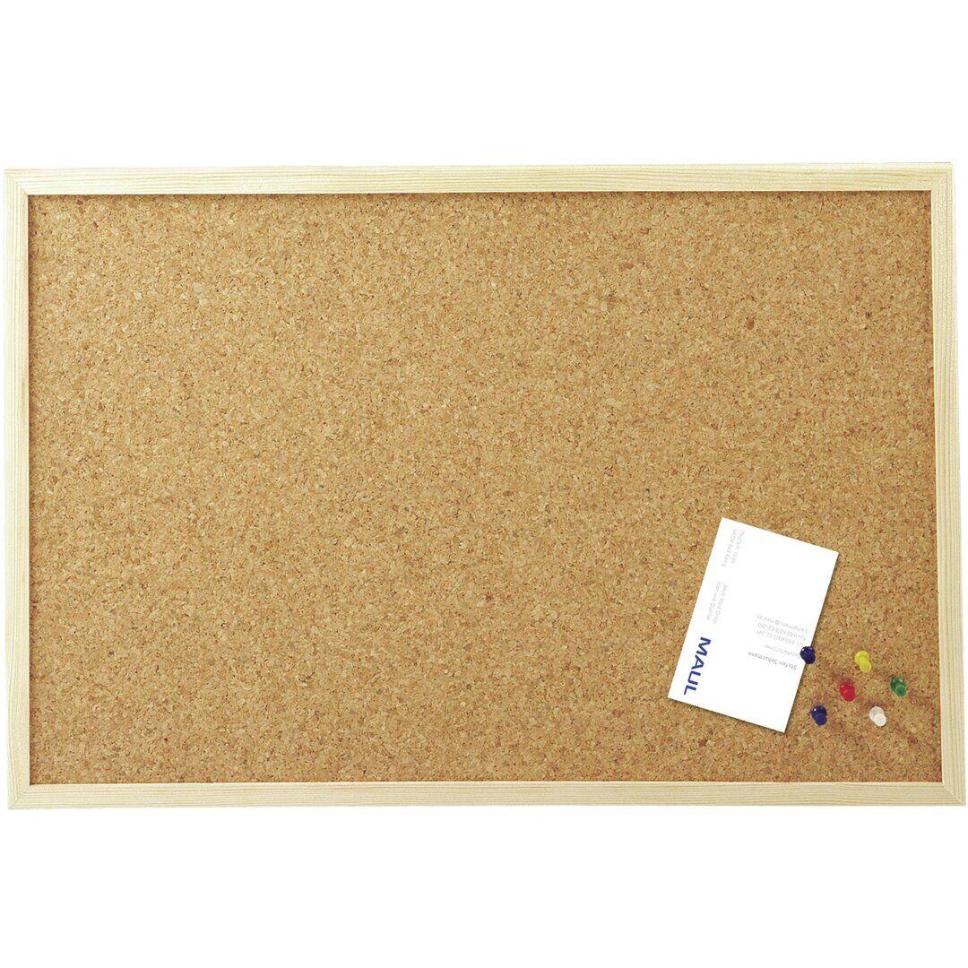 Symple Stuff Livy Wall Mounted Bulletin Board  - Size: 93.0 H x 126.0 W x 1.0 D cm