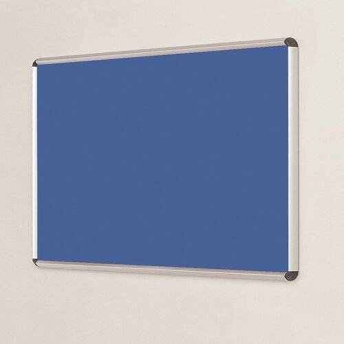 Symple Stuff Wall Mounted Bulletin Board Symple Stuff Size: 120cm H x 240cm W, Frame Finish: Green, Colour: Blueberry  - Size: 120cm H x 240cm W
